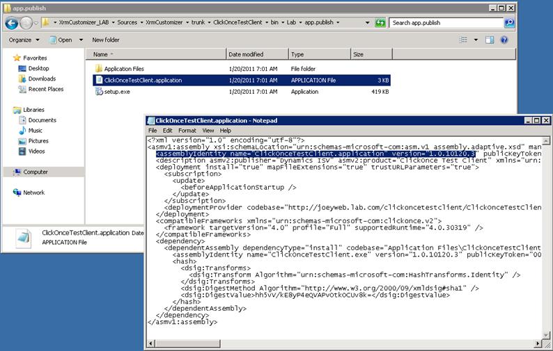 Team Build Visual Studio Publish Clickonce