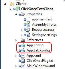 These need to be COMPLETE config files, not just transformations containing the differences like you would do with a web.<config>.config in a web application.