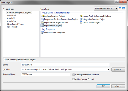 Developing Reports for SQL Server Reporting Services - Don't