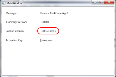 Notice how the ClickOnce Publish Version revision number is now 11.