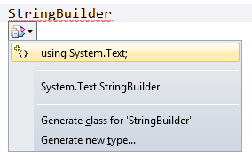 CTRL-PERIOD opens the smart tag dialog much like right-clicking on an item.