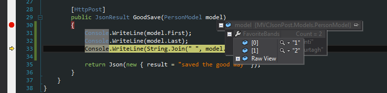 The GoodSave just takes in an instance of a PersonModel.