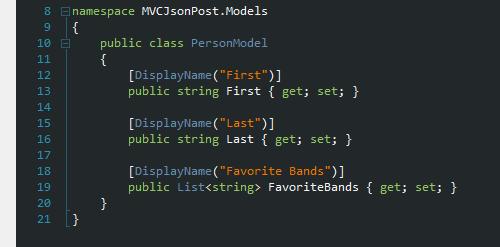Server-side PersonModel