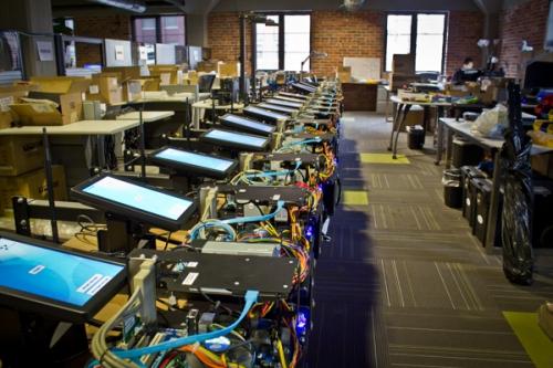 Hari's PowerTracker assembly line
