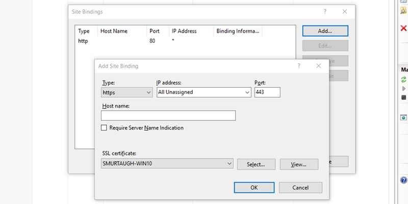 Creating a Self-Signed SSL Certificate for Developing and Testing Against IIS