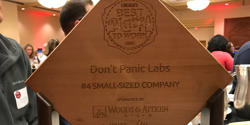 "Don't Panic Labs Named A ""Best Place To Work"" In Lincoln"
