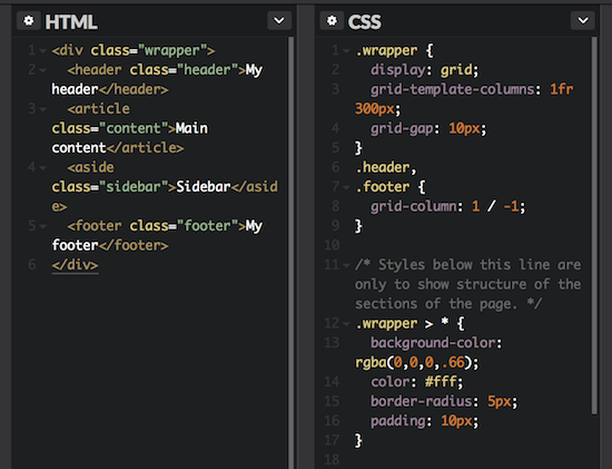 Css grid layout the future is now don 39 t panic labs for Html css grid