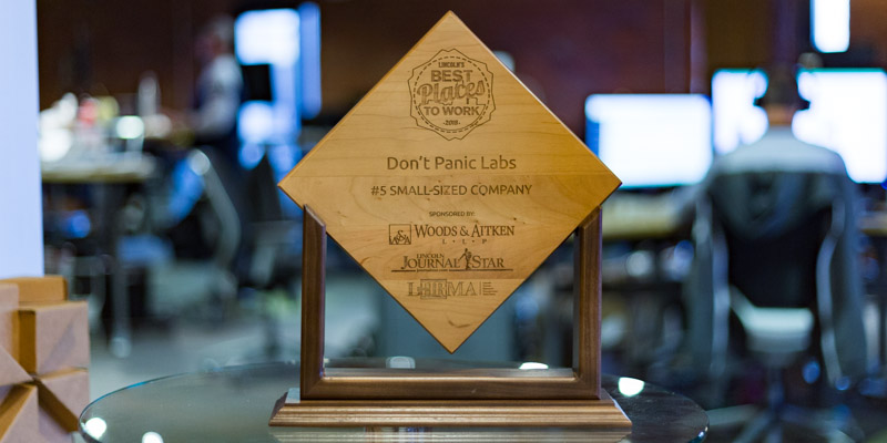 "Don't Panic Labs Named A 2018 ""Best Place To Work"" In Lincoln"
