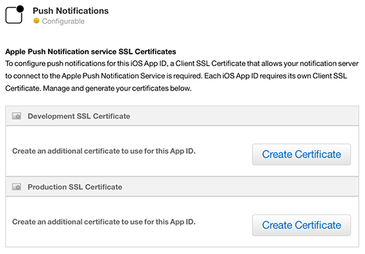 iOS Push Notifications - SSL Certificates