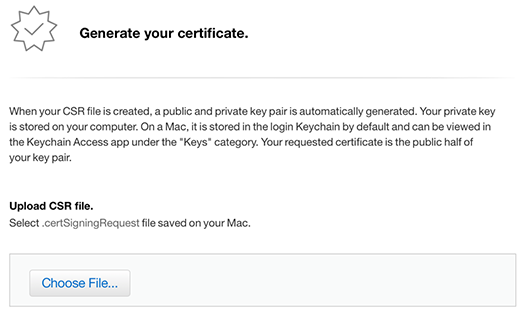 iOS Push Notifications - Generate your certificate