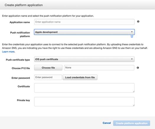 iOS Push Notifications - AWS SNS - Create platform application