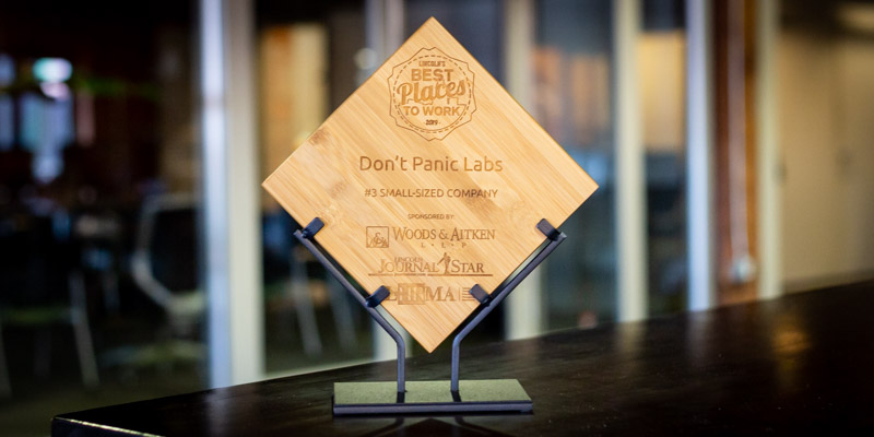 """Don't Panic Labs Named a """"Best Place To Work"""" in Lincoln for 2019"""
