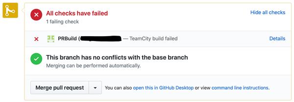 A failed build