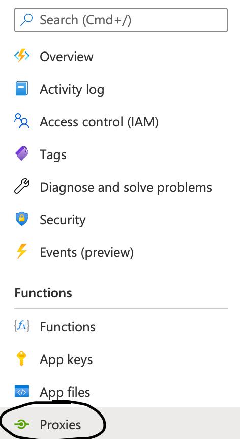 Proxies tab